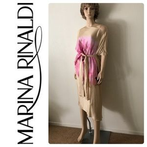 New Marina Rinaldi Plus Size Pure 100% Silk Dress